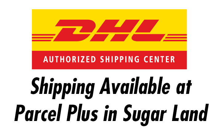 DHL Shipping Available at Parcel Plus in Sugar Land