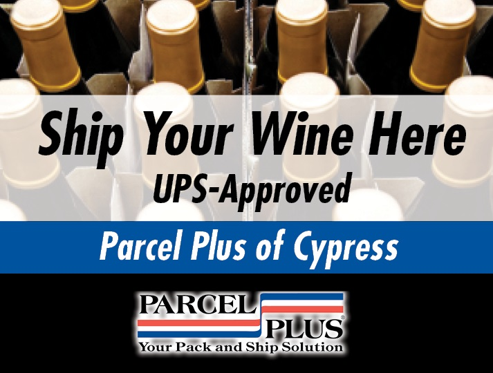 Wine Shipping Services at Parcel Plus in Cypress