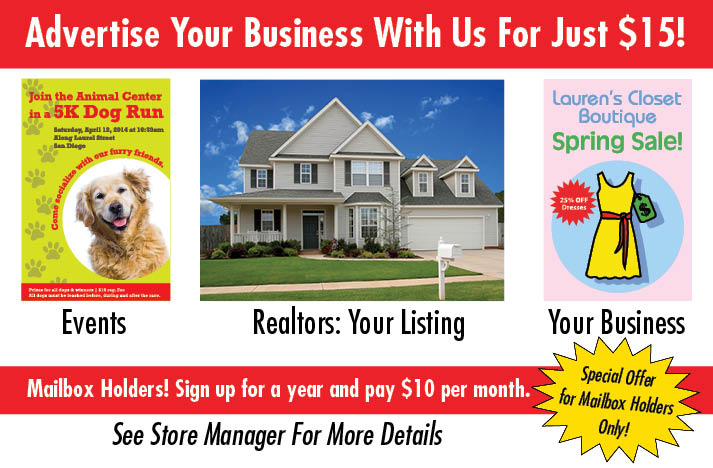 Advertise Your Business With Parcel Plus in Colesville, MD