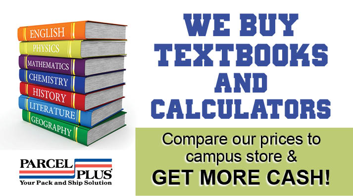 Sell your textbooks to Parcel Plus in Colesville, MD