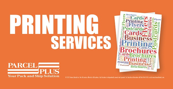 Printing Services at Parcel Plus